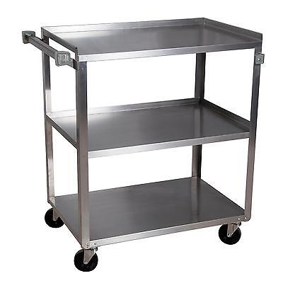 "BK Resources BKC-1827S-3S 18""W x 27""D 3-Tier Stainless Steel Utility Cart"