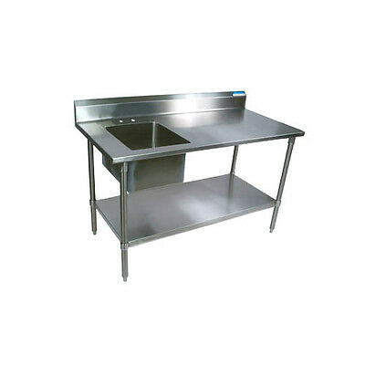 "Eagle Group PT 3060 60""Wx30""D S/s work table w/ Left Side Sink & drawer PT3060"