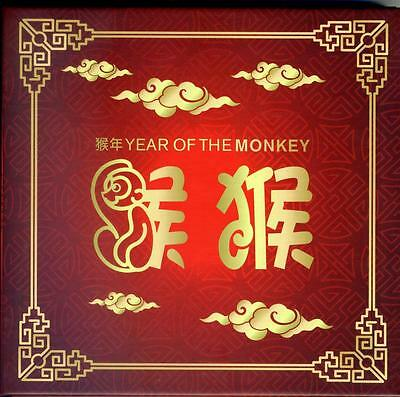 2016 Lunar New Year Monkey Gold Mini Sheet & Foil Die Set Ballot Issue Only 200