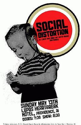 Social Distortion Lupo 2011 Original Concert Poster