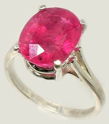 Red Sapphire Ring 5¼ct+ Antique 19thC Medieval Sorcery Psychic Anti-Black Magic