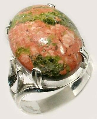 Unakite Ring 14ct Antique 19thC Ancient Switzerland Swiss Alps Medieval Psychics