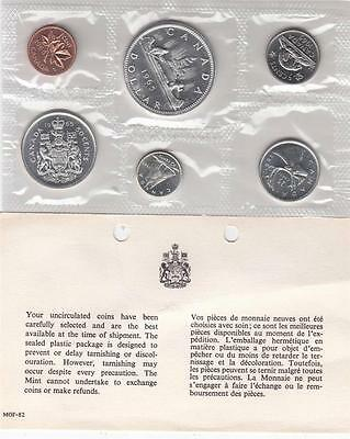 Canada 1965 Brilliant Uncirculated Sealed Silver Coin Set (6) 43g