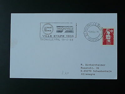 bicycle cycling Tour de France 1999 postmark on cover