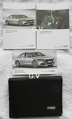 Audi A6 S6 Owners Handbook Manual With Mmi System & Wallet Free Post 2012