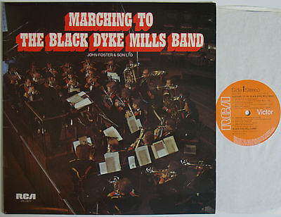 """Marching To The Black Dyke Mills Band (6678) 12"""" LP 1974 RCA LFL1 5071"""