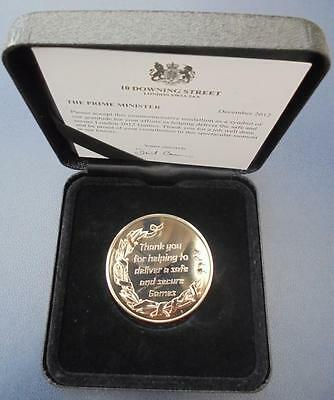 London 2012 Olympic Games Thank You Medallion Cased With P.M. Certificate