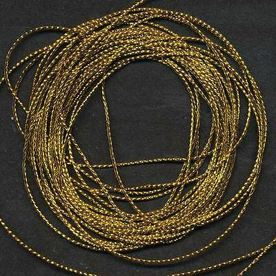 5 Mtrs x 1mm   ANTIQUE GOLD CORD/ STRING ~ EMBELLISHMENT