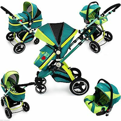 iSafe Pram System 3in1 Baby Travel Pramette LiL Friend Design Complete +Car Seat