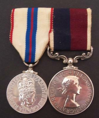 Great Britain RAF Long Service Medal and Silver Jubilee Mounted Medal Pair