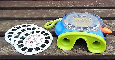 Fisher Price Vintage View Master 3D Optical Toy & 3 Superman Reels & Demo