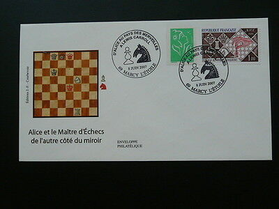 chess Lewis Carroll FDC 2007