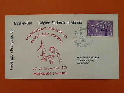 basketball Europe cup 1962 FDC  43332