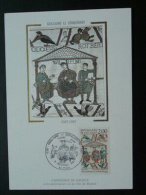 medieval history tapestry of Bayeux William Conqueror maximum card 47078