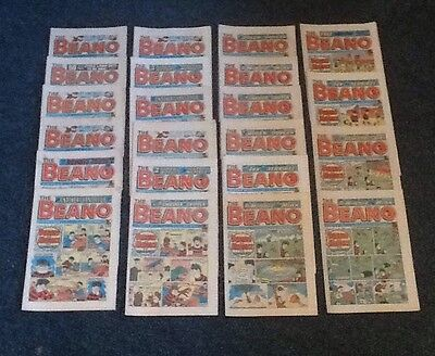 THE BEANO Job Lot / Collection Of 22 Vintage COMICS 1987