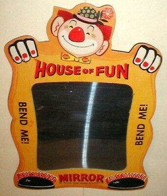 1960's Vintage Original DQ Dairy Queen Party Clown Fun House Mirror Fun Item NOS