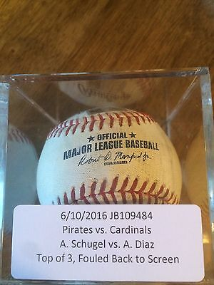 Aledmys Diaz  Foul Hit St Louis Cardinals Game Used Pitched Baseball By Schugel