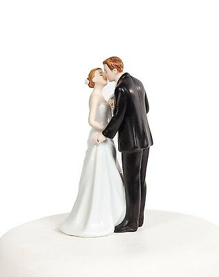 Tieing the Knot The Kiss Bride and Groom Wedding Cake Toppers