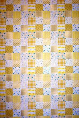 YELLOW PATCHWORK -  COVER FOR 12X30 or 12x32 TABLETOP IRONING BOARD