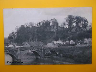 Ludford Bridge LUDLOW Shropshire - Early Vintage RP Postcard 1905