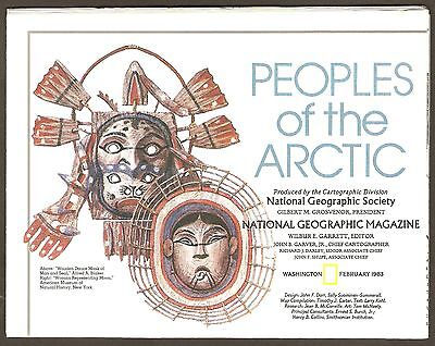 National Geographic Map - Peoples of the Arctic