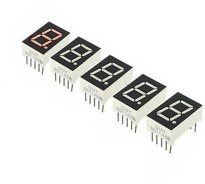 20pcs Red 7 Segment 0.5'' LED Display Digital Tube Common Anode 1 Bit