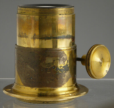 antique portrait lens_Petzval type_f/ Wood & Brass Plate Field Cameras_collodion