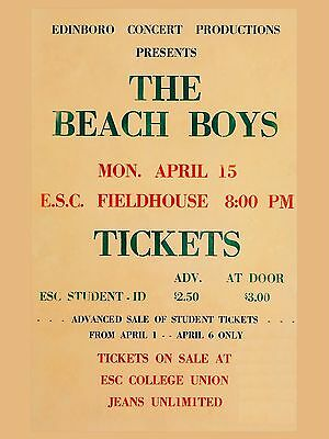 "The Beach Boys 1963 Univ 16"" x 12"" Photo Repro Concert Poster"