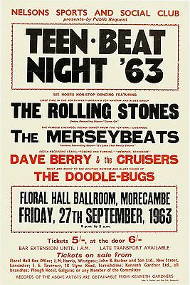 """Rolling Stones Morecambe 16"""" x 12"""" Photo Repro Concert Poster"""
