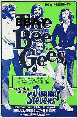 "Bee Gees Paramount 16"" x 12"" Photo Repro Concert Poster"