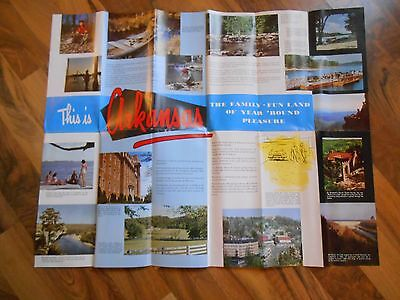 Old Vintage This is Arkansas Travel Fold Out Souvenir Brochure Collectible