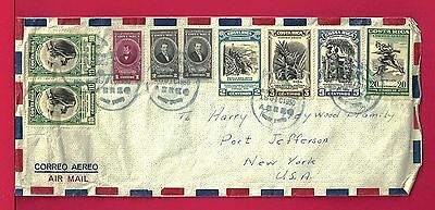 1950 Costa Rica Multi Franked Airmail Cover To Usa