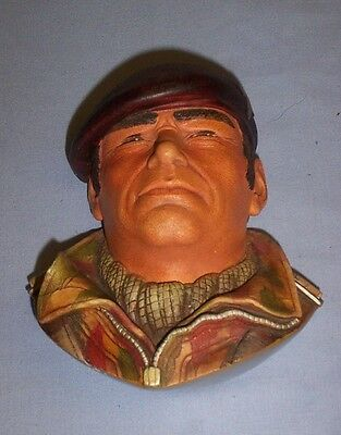 RARE PARATROOPER LEGEND (c) 1989 H/P PLASTER WALL MASK BY BOSSONS FRED WRIGHT.