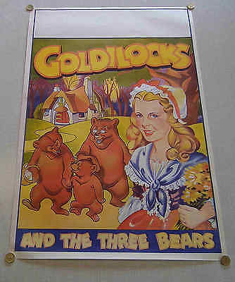 2 Different 1930`s Taylors  Theatre Posters Very Large Goldilocks Small Aladdin
