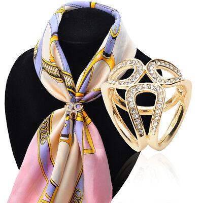 3-ring Pattern Scarf Ring Clip for Women Gold