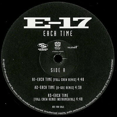 E-17 Each Time Vinyl Single 12inch Urban Records