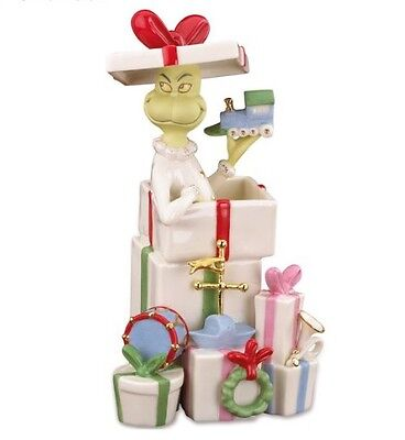 Lenox Dr. Seuss Grinch Gets The Gifts Figurine Brand New