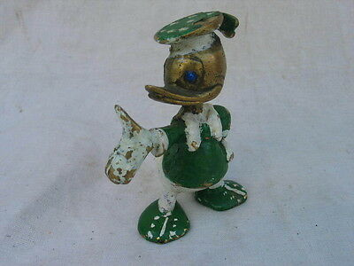 alte Disney Messing Figur Donald Duck vintage