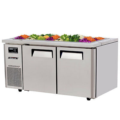 "Turbo Air JBT-60 60"" Refrigerated Buffet Display Table Stainless w/ Casters"