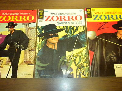 ZORRO #7,8,9 Gold Key WALT DISNEY Presents 1967-1968 tv/movies/western LOT