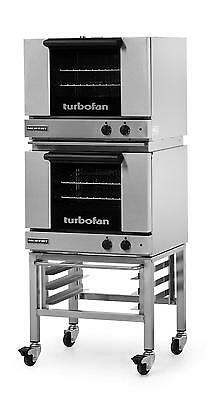 Moffat E22M3/2C Electric Double Convection Oven 3 Half Size Pan Mobile Stand