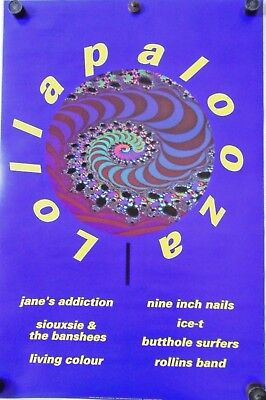 """Lollapalooza / Orig.Tour poster - Janes Addiction, Ice-T / Exc. New cond. 23x35"""""""