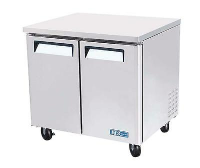 "Turbo Air MUR-36 36"" Undercounter Cooler Stainless 9.5 Cu.Ft Refrigerator"