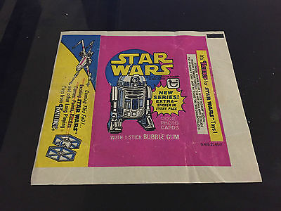 1977 Vintage Topps Star Wars 3rd Series 3 Yellow Trading Card Wrapper NM-
