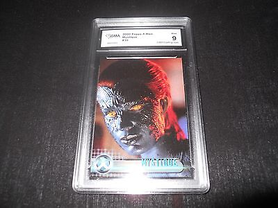 2000 Topps X-Men Mystique #10 Character Trading Card Graded 9