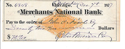 1877  MERCHANTS NATIONAL BANK of CHICAGO,, ILLINOIS   WITH REVENUE