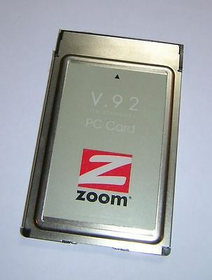 Zoom PCMCIA V.92 56k Modem PC Card 1273 with Dongle Cable