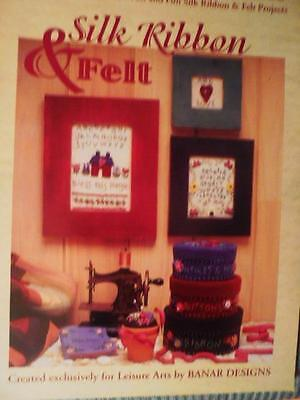 Leisure Arts SILK RIBBON & FELT Pattern Book 29 Projects
