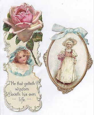 5 1880s90s Victorian Era Art Forms CHILDREN & FASHIONS w Die Cut & hand cut item
