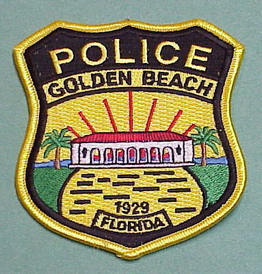 Golden Beach  Florida  1929  Fl   Police Patch   Free Shipping!!!